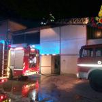 Paura e danni ingenti per un incendio alla Gps Galvanica di Montegiorgio