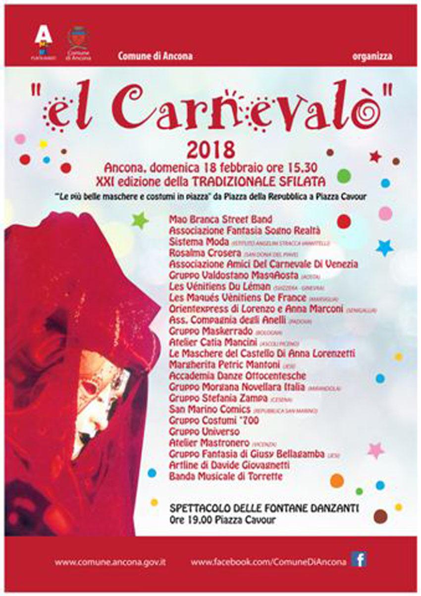 """""""El Carnevalò"""" di Ancona prevede quest'anno, oltre alla classica sfilata, un ricco programma di eventi per tutte le età"""
