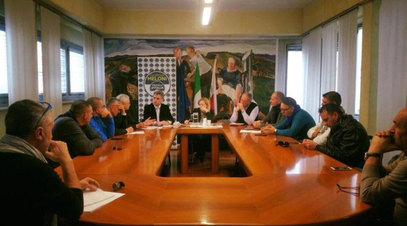 """Giorgia Meloni e Antonio Baldelli da Pesaro: """"Pronti a difendere le forze dell'ordine"""""""