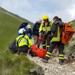 Un'escursionista infortunata sul Monte Vettore soccorsa dai vigili del fuoco di Ascoli Piceno
