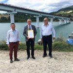 Riapre il ponte di Cingoli, la prima grande opera pubblica della ricostruzione post sisma