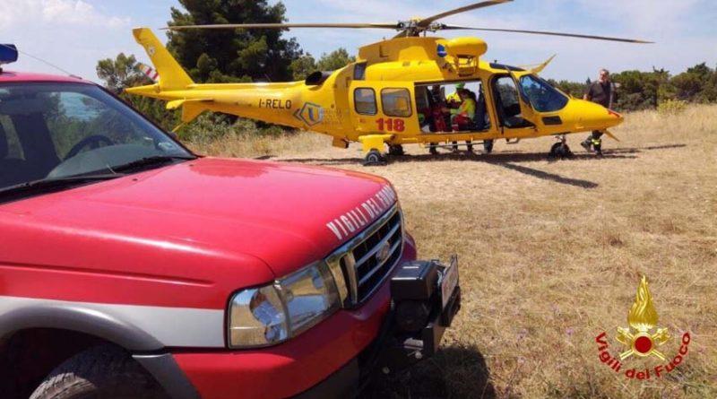 Ciclista cade sul monte Conero durante un'escursione, recuperato dai vigili del fuoco