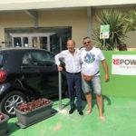 Prima ricarica per auto elettriche alla Confcommercio di Pesaro