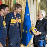 """Il Presidente Sergio Mattarella a Davide Mazzanti e alle azzurre del volley: """"Grazie dell'esempio, è questa l'Italia che vorrei"""""""