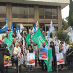 Sit-in in Regione di medici e dirigenti mobilitati a difesa della sanità pubblica