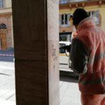 La Galleria Dorica di Ancona ripulita dalle scritte imbrattanti