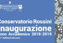 A Pesaro l'inaugurazione dell'anno accademico del Conservatorio Rossini