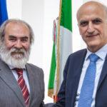 Il nuovo Prefetto di Pesaro e Urbino Vittorio Lapolla ricevuto dal presidente della Provincia Giuseppe Paolini