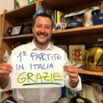 Con il 37,98% la Lega di Matteo Salvini diventa il primo partito delle Marche
