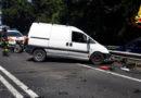 Un ferito nello scontro frontale ad Ancona tra un furgone ed un'autocisterna