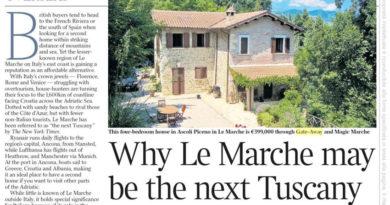 """""""Le Marche la nuova Toscana"""", per il Times potrebbe diventare la meta preferita dagli inglesi"""