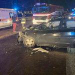 Quattro feriti nella notte in uno scontro frontale sulla Flaminia, alle porte di Ancona