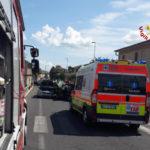 Due feriti in uno schianto tra auto sulla Statale 16 a Osimo Stazione