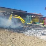 Legnaia in fiamme in un'azienda agricola a San Biagio di Osimo