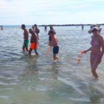 Plogging in mare, questa mattina a Pesaro la camminata ecologica in acqua