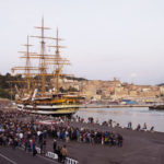 La nave scuola Amerigo Vespucci della Marina Militare torna al Porto Antico di Ancona