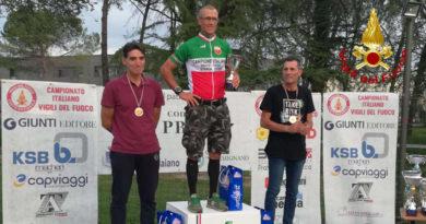 I vigili del fuoco di Ancona protagonisti al Campionato italiano di ciclismo