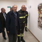 Dopo la tragedia di Alessandria la testimonianza del Prefetto, delle altre istituzioni e dei cittadini ai vigili del fuoco di Ancona / FOTO