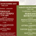 Due conferenze-concerto a Recanati per celebrare Giuseppe Persiani nel 150° anno dalla scomparsa