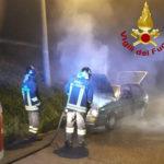 Auto in fiamme giovedì sera ad Osimo