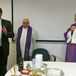 L'arcivescovo Angelo Spina ha celebrato la messa natalizia nella sede di AnconAmbiente