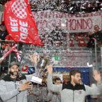 I campioni del mondo della Cucine Lube Civitanova festeggiati all'Eurosuole Forum