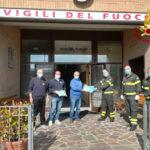 Donate dall'Avis 200 mascherine certificate ai vigili del fuoco di Fabriano