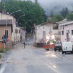 Smottamenti e danni per il maltempo in diverse zone di Camerino, abitazioni allagate nella frazione di Polverina