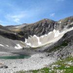 Nel lago di Pilato acqua in calo per il cambiamento climatico e per il terremoto