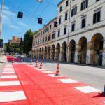 Avviati ad Ancona i lavori per realizzare una pista ciclabile in via Marconi