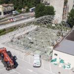 All'Alberghiero Santa Marta di Pesaro iniziati i lavori per la sostituzione della copertura della palestra