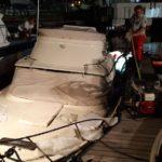 Imbarcazione parzialmente affondata recuperata dai vigili del fuoco