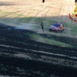 Stoppie e sterpaglie in fiamme alla periferia di Ancona