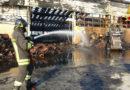 Al porto di Ancona continuano gli interventi di messa in sicurezza dei capannoni divorati dalle fiamme