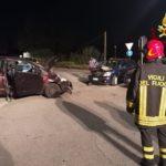 Schianto fra tre auto con quattro persone ferite