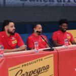 Presentato a Pesaro il trio magico della nuova Vuelle basket