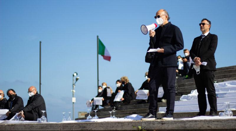 #siamoaterra, anche nelle Marche esplode la protesta dei ristoratori