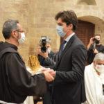 Ad Assisi la prima uscita istituzionale del neo presidente Francesco Acquaroli