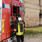 Incendio in una casa disabitata utilizzata come magazzino