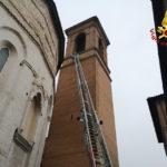 Rimosse parti pericolanti dal campanile della Cattedrale di San Venanzio Martire