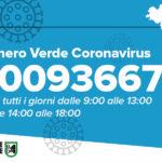 Riattivato il numero verde regionale per le informazioni sul Covid-19