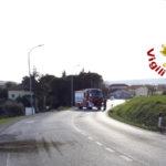 Fuga di gas dopo la rottura di una tubazione: strade bloccate a Camerano