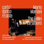 """Mercoledì Mario Mariani in concerto da Pesaro per """"Corto Dorico rEsiste"""""""