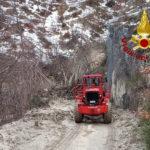 Smottamento a Sefro, messa in sicurezza la conduttura dell'acquedotto