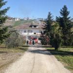 Mansarda in fiamme alla periferia di Sant'Elpidio a Mare