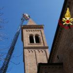 Rimosse parti pericolanti dal campanile della chiesa di San Sabino