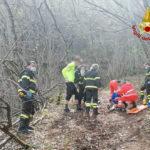 Un ciclista finisce in una zona impervia, soccorso e trasportato con l'eliambulanza all'Ospedale di Torrette
