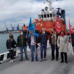 Basta morti sul lavoro, presidio questa mattina al porto di Ancona