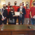 I campioni d'Italia della Cucine Lube festeggiati dall'Amministrazione comunale di Civitanova Marche