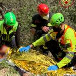 Escursionista in bicicletta cade e viene soccorso dai Vigili del fuoco sul monte Cafaggio
